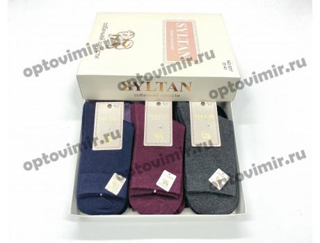Носки женские Syltan из собачьей шерсти однотонные в коробке 1217
