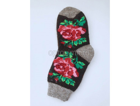 Носки женские шерсть 100% тамбовские разные узоры-1