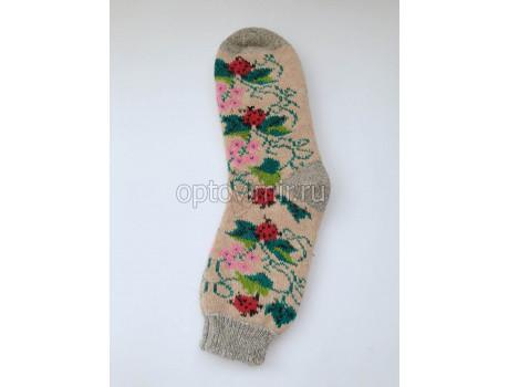 Носки женские шерсть 100% тамбовские разные узоры-4